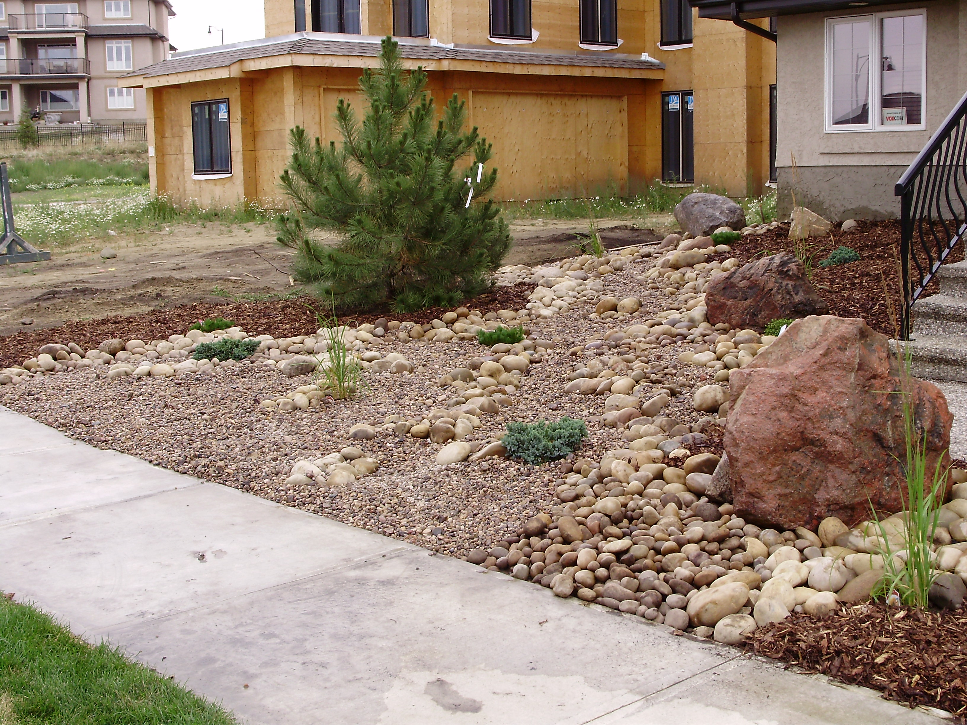 Low maintenance landscaping xeriscaping whitemud for Looking for landscaping ideas