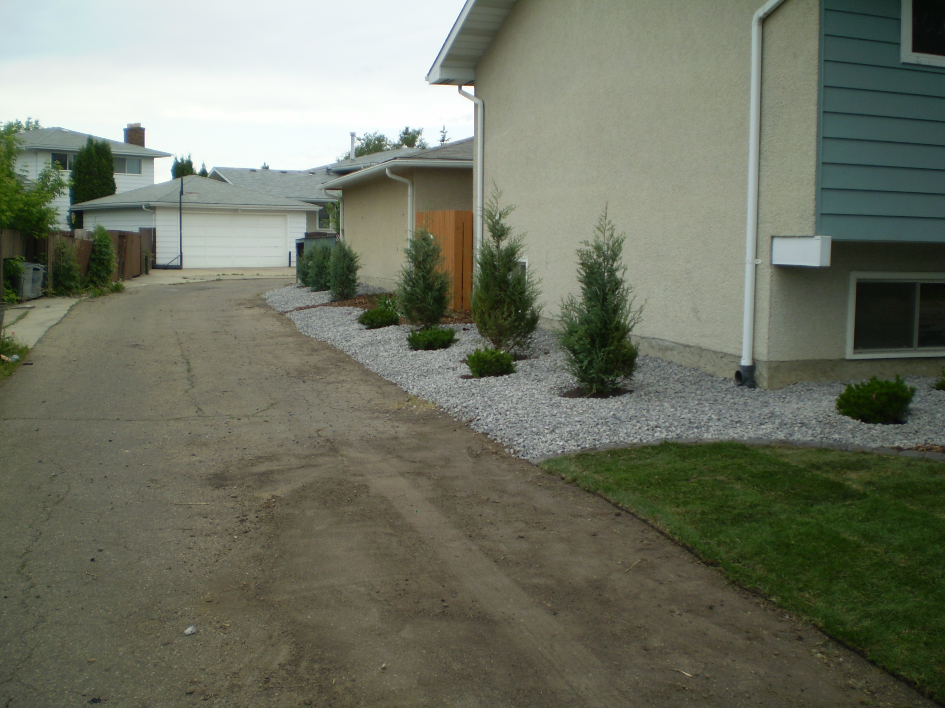 Landscaping Property Lines Pictures : Between property lines whitemud landscaping and garden