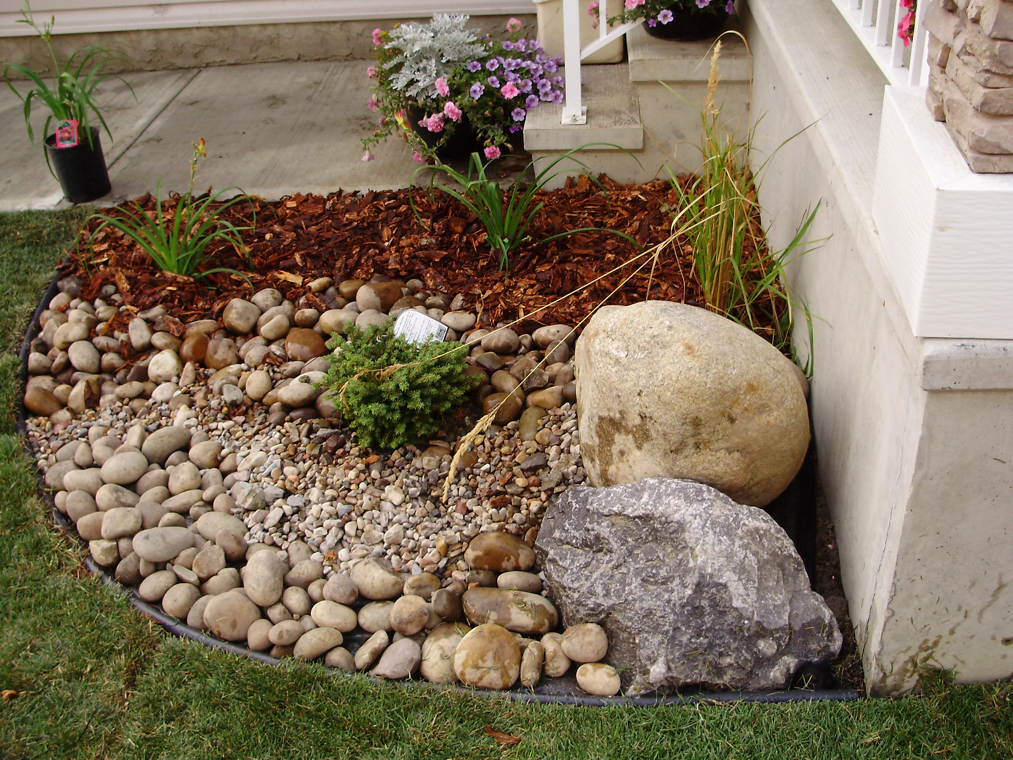 Hyams Landscaping And Garden Center : Dry and wet creek beds whitemud landscaping garden