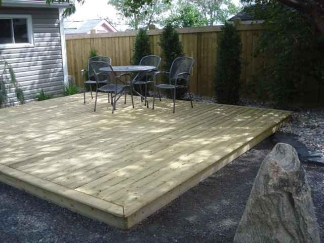 Pressure treated decking whitemud landscaping and garden for Low maintenance decking